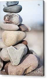 Rock Solid Love Acrylic Print by Anne Gilbert
