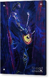 Rhythm In Blue Acrylic Print by Elizabeth Briggs