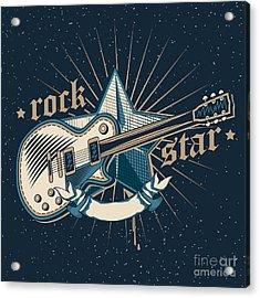 Rock Star Emblem Acrylic Print