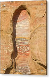 Rock Texture Of Cave Wall, Petra, Jordan Acrylic Print by Keren Su