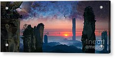 Rock Towers Acrylic Print