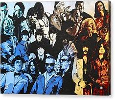 Rock Triptych - Panel B Acrylic Print by Bobby Zeik