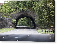 Rock Tunnel On Kelly Drive Acrylic Print by Bill Cannon