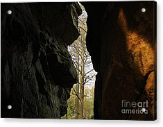 Rock Window Acrylic Print