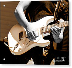 Rockabilly In Three Course Blues Acrylic Print by Steven Digman