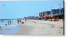 Rockaway Beach And Boardwalk Summer 2012 Acrylic Print