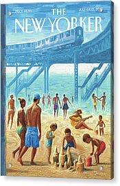 Rockaway Beach Acrylic Print