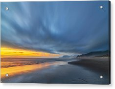 Rockaway Sunset Bliss Acrylic Print