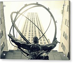 'rockefeller Center And Atlas' Acrylic Print