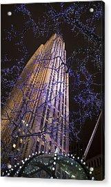 Rockefeller Center Night Lights Acrylic Print