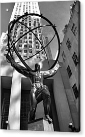 Atlas In Black And White Acrylic Print