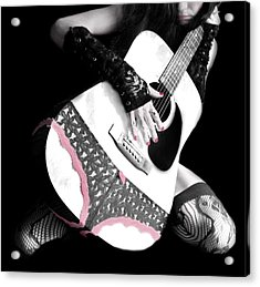 Rocker Chic Acrylic Print by Mary Burr