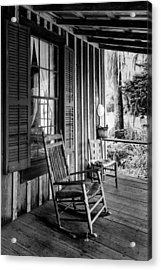 Rocker On The Veranda Acrylic Print by Lynn Palmer