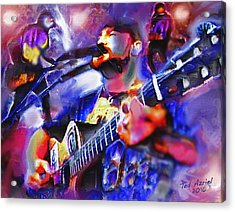 Acrylic Print featuring the painting Rocker by Ted Azriel