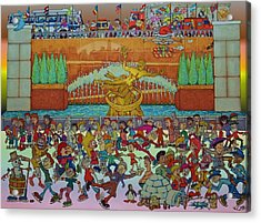 Rockerfeller Center Stage Acrylic Print by Paul Calabrese