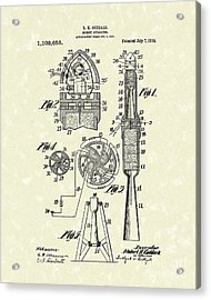 Rocket 1914 Patent Art Acrylic Print by Prior Art Design