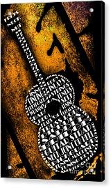 Rockin Guitar In Yellow Acrylic Print