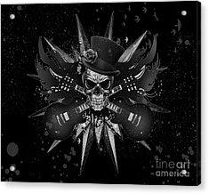 Rockin Skull Design Acrylic Print by Suzi Nelson
