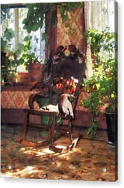 Rocking Chair In Victorian Parlor Acrylic Print by Susan Savad
