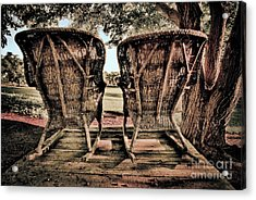 Rocking Chairs Acrylic Print by Terry Garvin