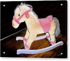 Rocking Horse Acrylic Print by Brandy Nicole Neal
