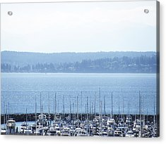 Rocking In The Puget Sound Acrylic Print by Laura Watts