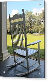 Rocking On The Front Porch Acrylic Print by William Tucker