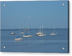 Rockland Breakwater Lighthouse After Dark Coast Of Maine Acrylic Print by Keith Webber Jr