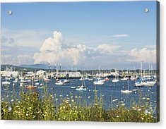Rockland Harbor On The Coast Of Maine Acrylic Print by Keith Webber Jr