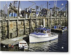 Rockland Maine Fishing Boats And Harbor Acrylic Print