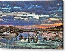 Rockport Dusk Acrylic Print by Joann Vitali