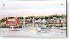 Rockport Harbor Ma Acrylic Print by Pamela Parsons