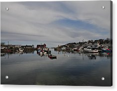 Rockport Harbor Acrylic Print by Mike Martin