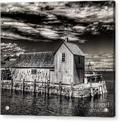 Acrylic Print featuring the photograph Rockport Harbor by Steve Zimic