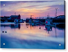 Acrylic Print featuring the photograph Rockport Harbor Sunrise Over Motif #1 by Jeff Folger