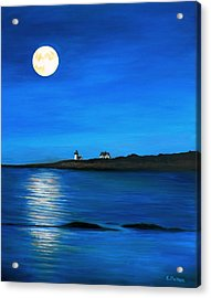 Rockport Harvest Moon Acrylic Print