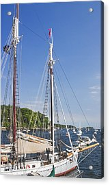 Rockport Maine Boats And Harbor Acrylic Print