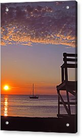 Rockport Sunset Acrylic Print by Joann Vitali