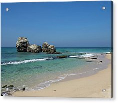 Rocks Along Beach, A2 Road, North Acrylic Print by Panoramic Images