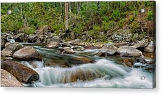 Rocks And Rapids Acrylic Print by Mark Lucey