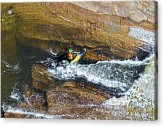 Rocks And Rapids Acrylic Print by Susan Leggett