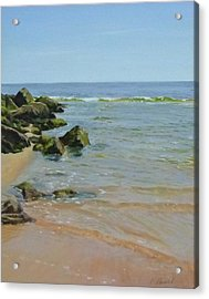 Rocks And Shallows Acrylic Print