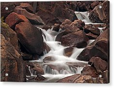Rocks And Water Acrylic Print by Eric Rundle