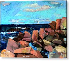 Rocks At Ogunquit Acrylic Print