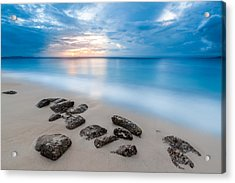 Acrylic Print featuring the photograph Rocks By The Sea by Mihai Andritoiu