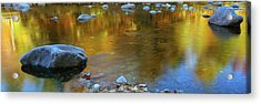 Rocks In A Shallow Stream Acrylic Print