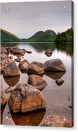 Rocks In Pond, Jordan Pond, Bubble Acrylic Print by Panoramic Images