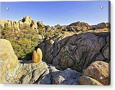 Rocks In Prescott Arizona Acrylic Print by James Steele