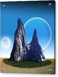 Rocks In The Desert Acrylic Print by Piero Lucia