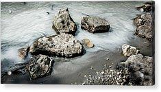 Rocks In The River Acrylic Print